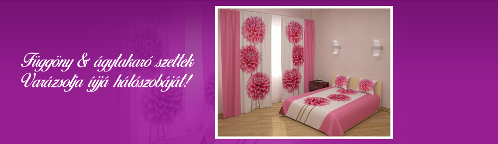 Függöny & ágytakaró szettjeinkkel varázsolja újjá hálószobáját!