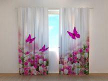 Karmazsin pillangók és virágok