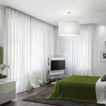 Fehér fényáteresztő függöny