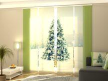 Karácsonyfa fehér dekorációval