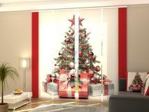 Karácsonyfa piros stílusban-lapfüggöny