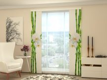 Bambusz és fehér orchidea