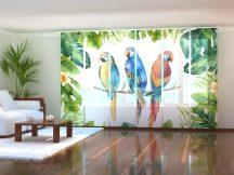 Akvarell növények és papagájok