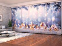 Karácsonyi arany csillag és hó