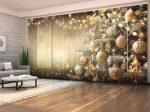 Karácsonyfa arany retró játékokkal