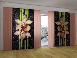 Krém orchideák és bambusz