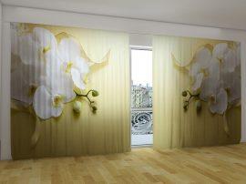 Orchideák arany háttérrel