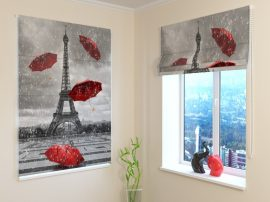 Piros esernyők